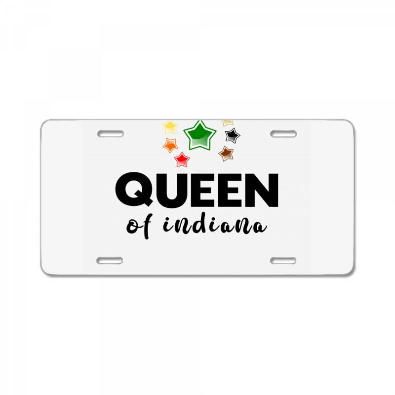 Queen Of Indiana License Plate | Artistshot