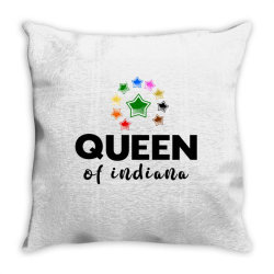 Queen of Indiana Throw Pillow | Artistshot