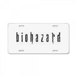 Biohazard License Plate   Artistshot