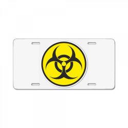 Biohazard Symbol License Plate | Artistshot