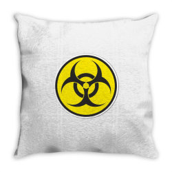 Biohazard Symbol Throw Pillow | Artistshot