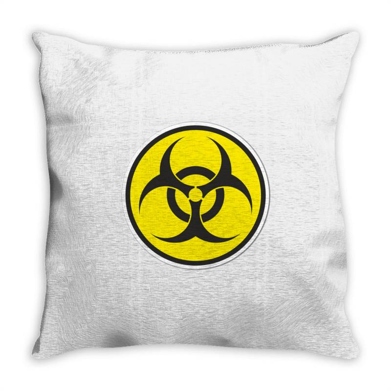 Biohazard Symbol Throw Pillow | Artistshot