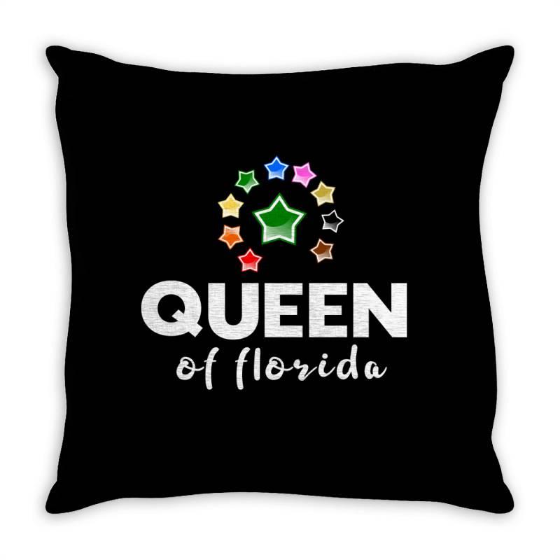 Queen Of Florida Throw Pillow | Artistshot