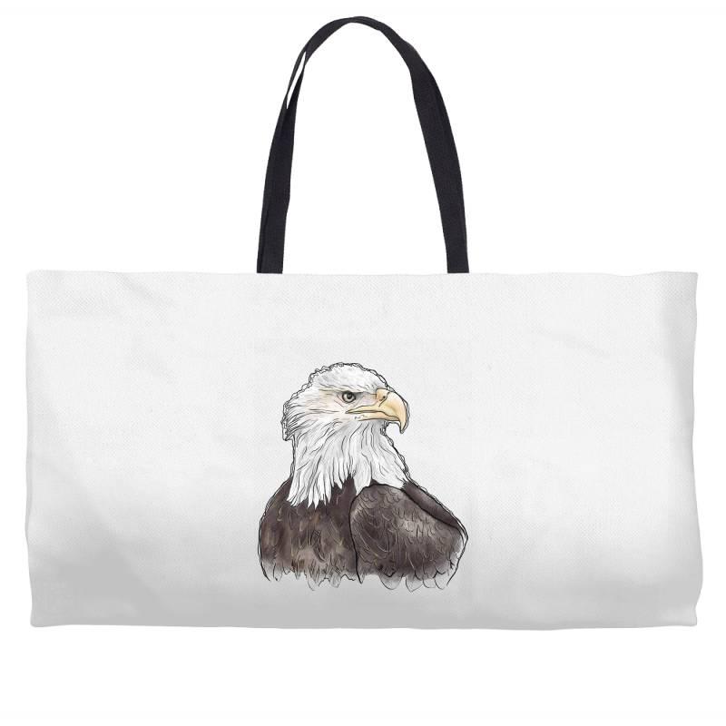 Watercolor Eagle Weekender Totes | Artistshot