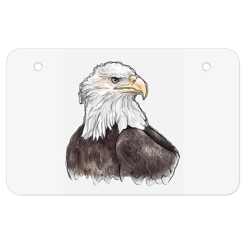 Watercolor Eagle Atv License Plate | Artistshot