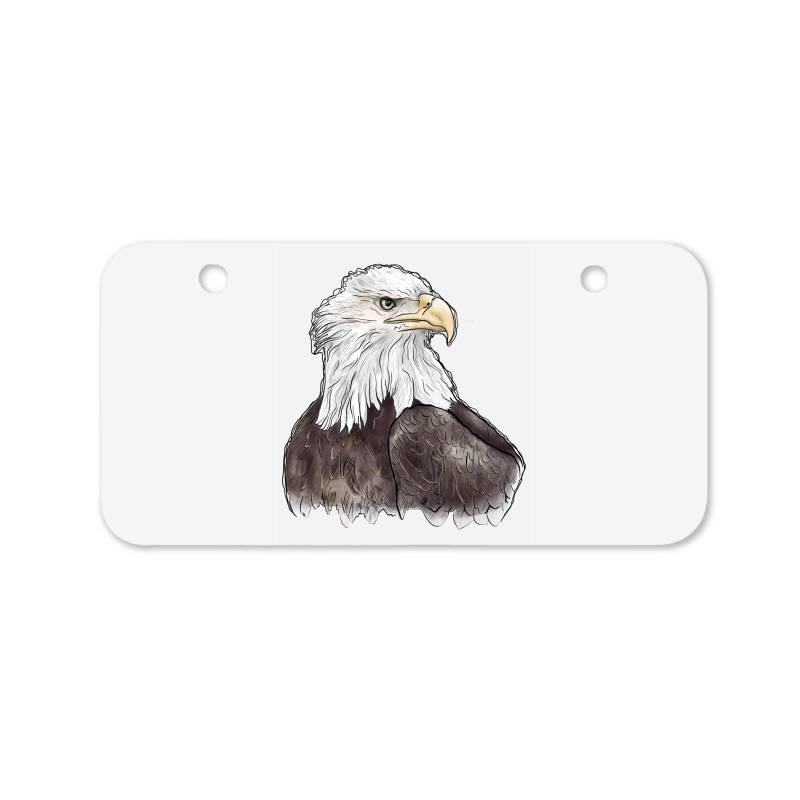 Watercolor Eagle Bicycle License Plate | Artistshot