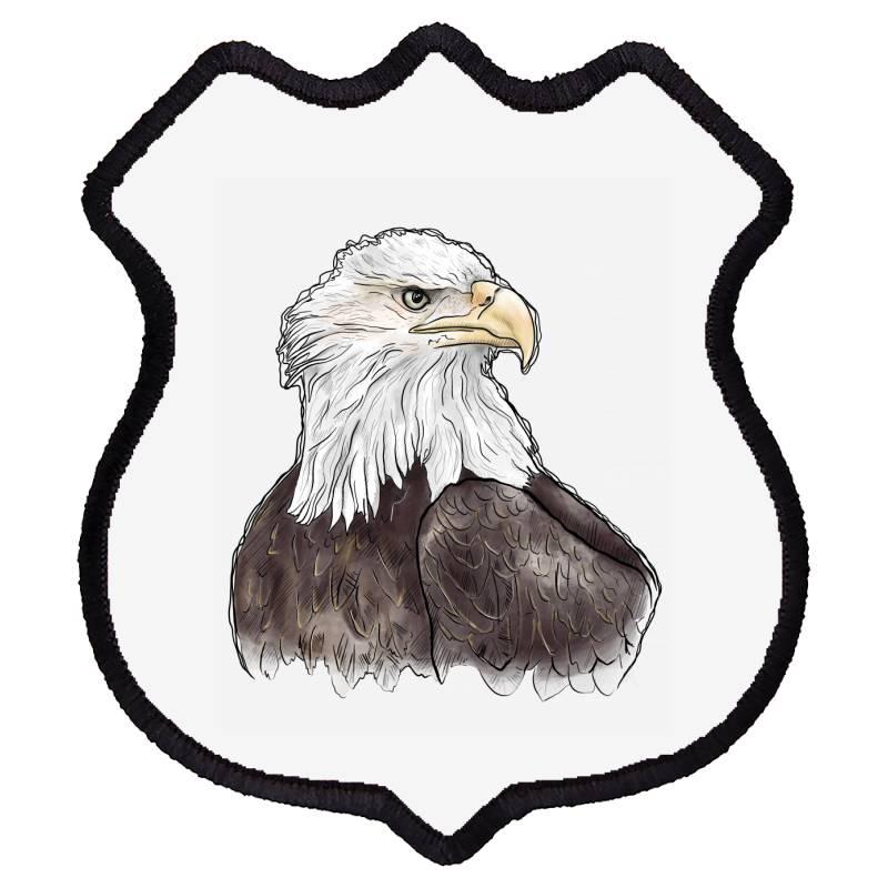 Watercolor Eagle Shield Patch   Artistshot