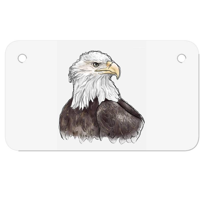 Watercolor Eagle Motorcycle License Plate | Artistshot