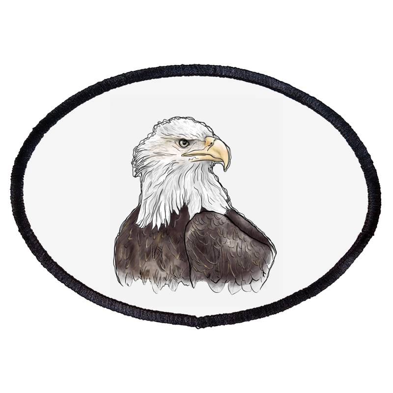 Watercolor Eagle Oval Patch | Artistshot