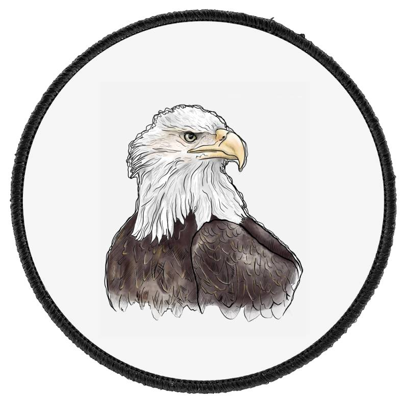 Watercolor Eagle Round Patch | Artistshot