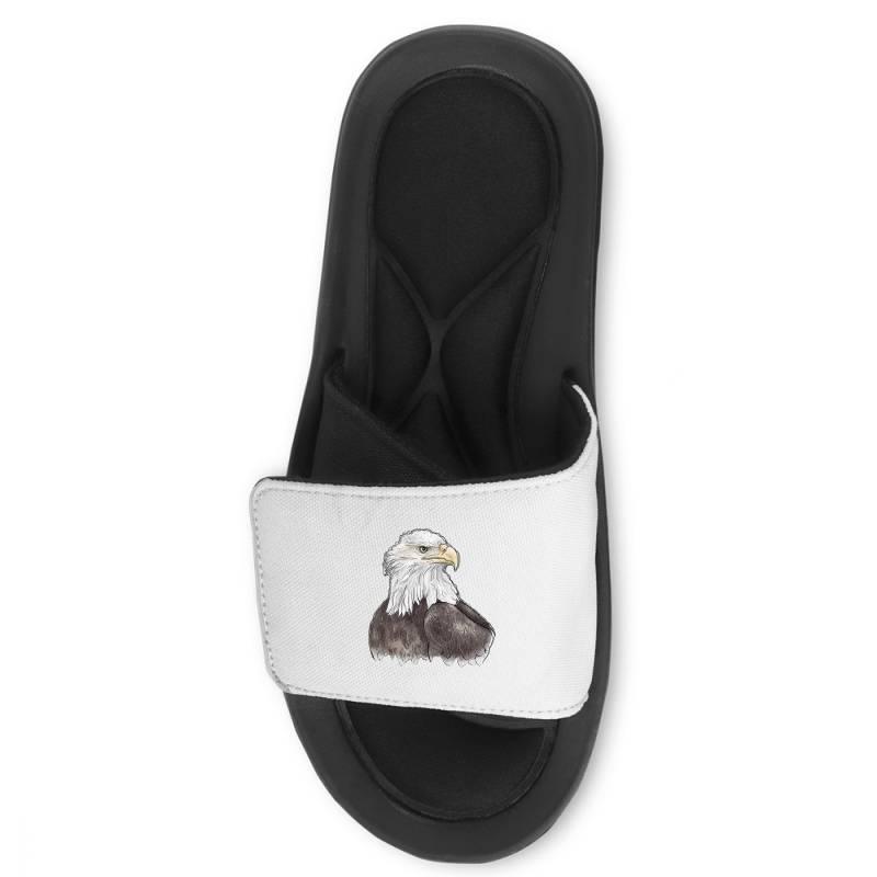 Watercolor Eagle Slide Sandal | Artistshot