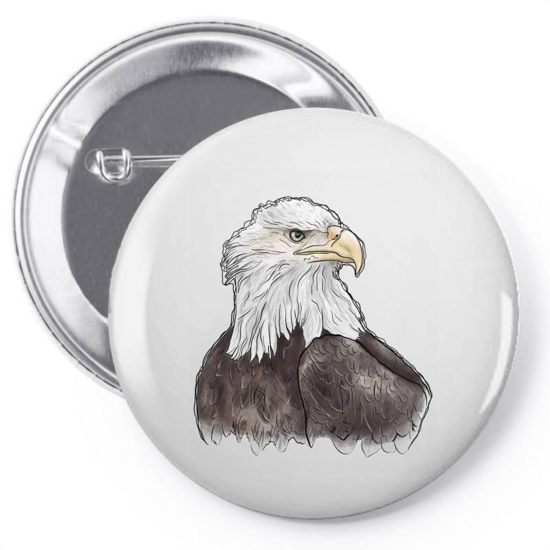Watercolor Eagle Pin-back Button   Artistshot