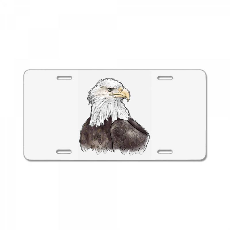 Watercolor Eagle License Plate | Artistshot
