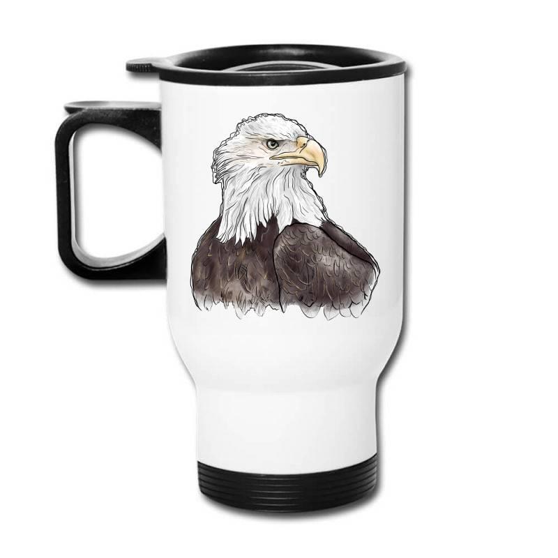 Watercolor Eagle Travel Mug | Artistshot