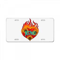Xoxo Fire Heart License Plate | Artistshot