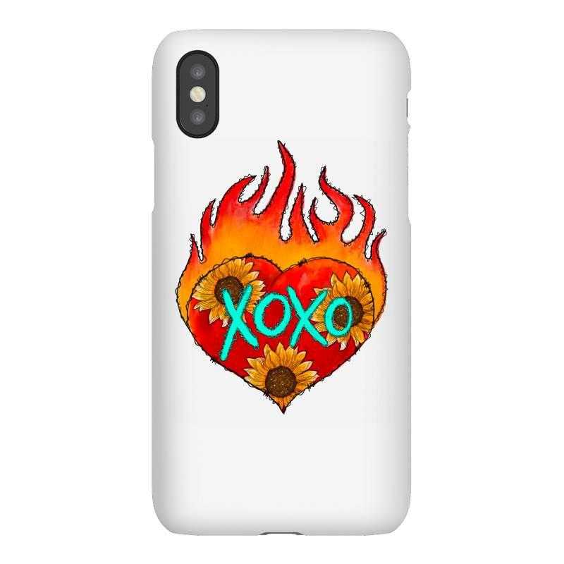 Xoxo Fire Heart Iphonex Case | Artistshot