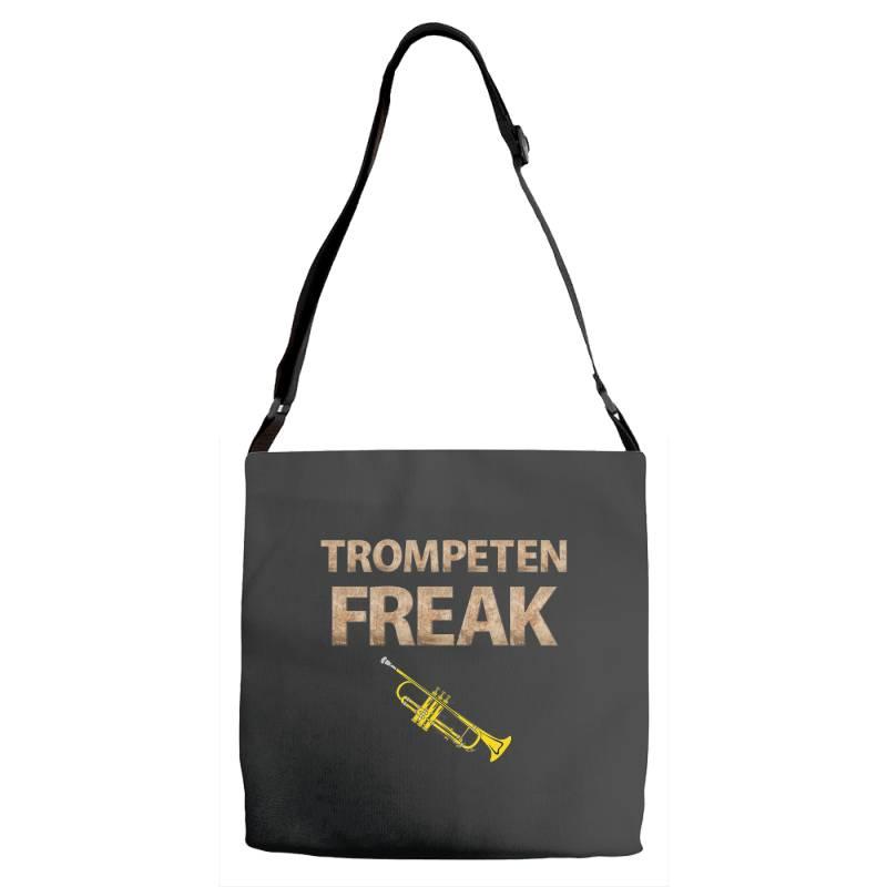 Trumpet Freak Of Brass Music Adjustable Strap Totes | Artistshot