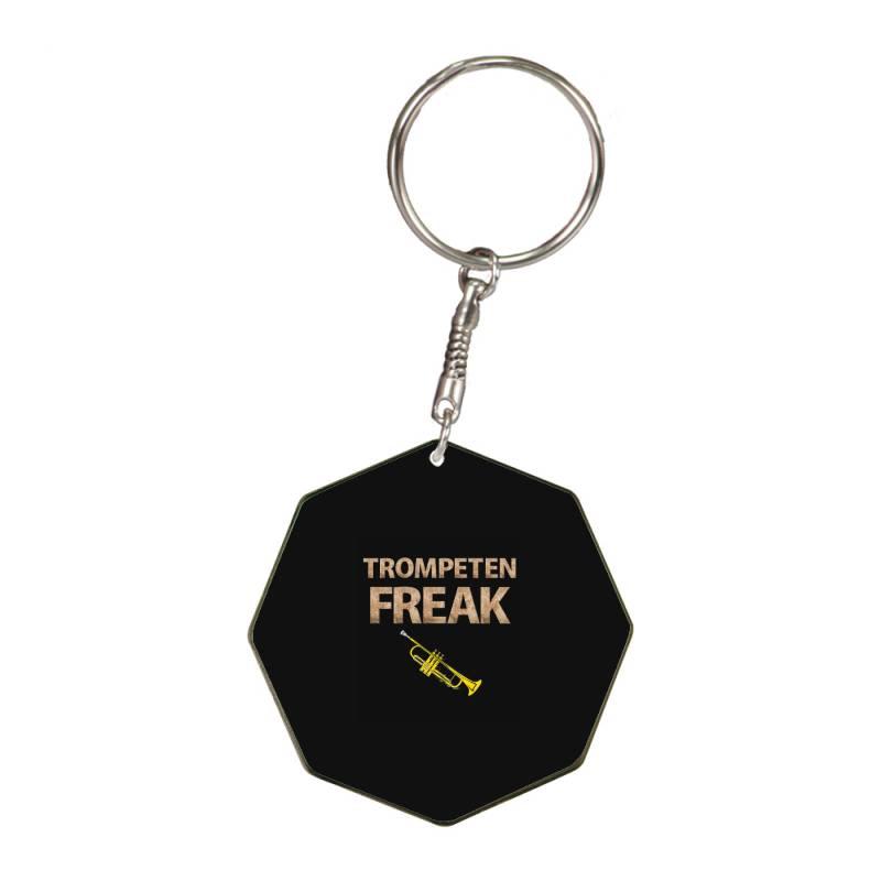 Trumpet Freak Of Brass Music Octagon Keychain   Artistshot