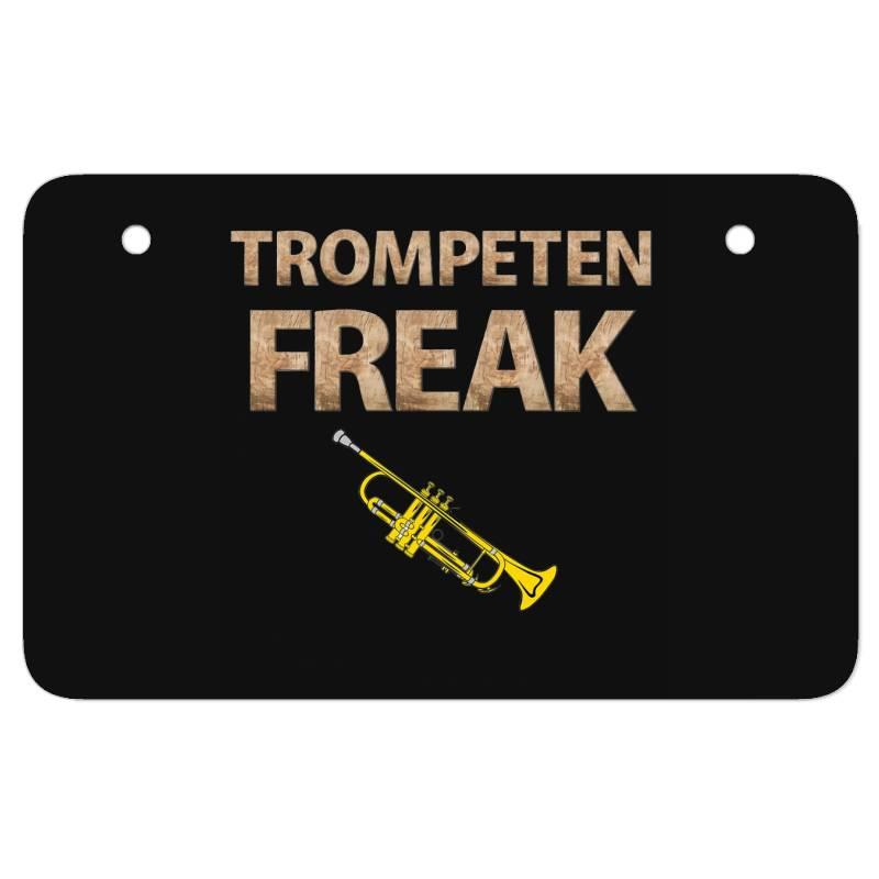 Trumpet Freak Of Brass Music Atv License Plate   Artistshot