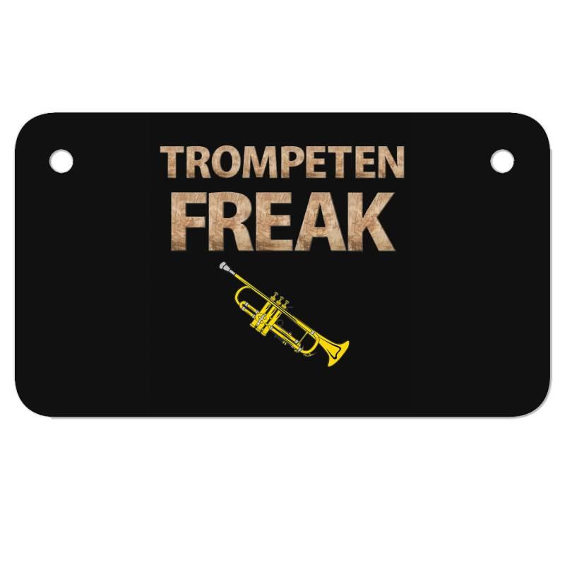 Trumpet Freak Of Brass Music Motorcycle License Plate | Artistshot