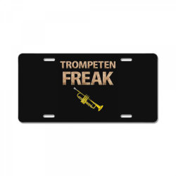 trumpet freak of brass music License Plate | Artistshot