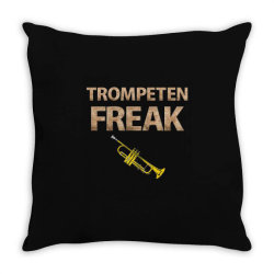 trumpet freak of brass music Throw Pillow | Artistshot