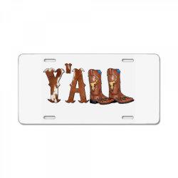 Yall Cowboy Boots License Plate | Artistshot