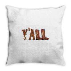 Yall Cowboy Boots Throw Pillow | Artistshot