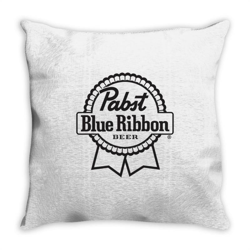 Pabst Blue Ribbon Beer Throw Pillow | Artistshot