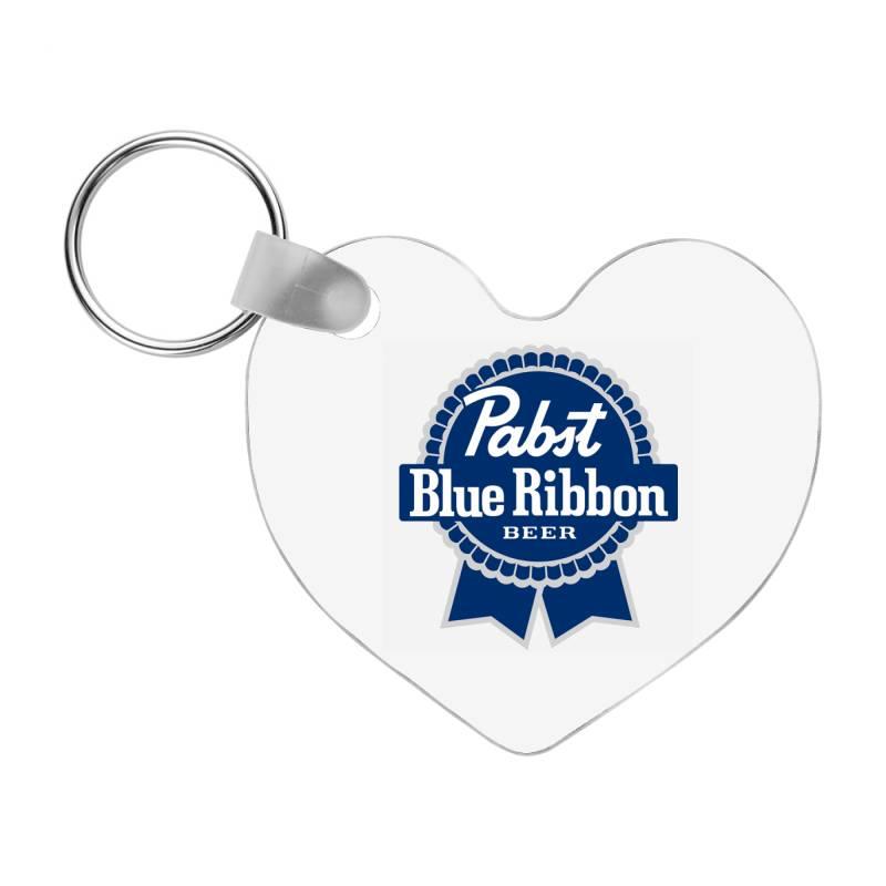 Pabst Blue Ribbon Frp Heart Keychain   Artistshot