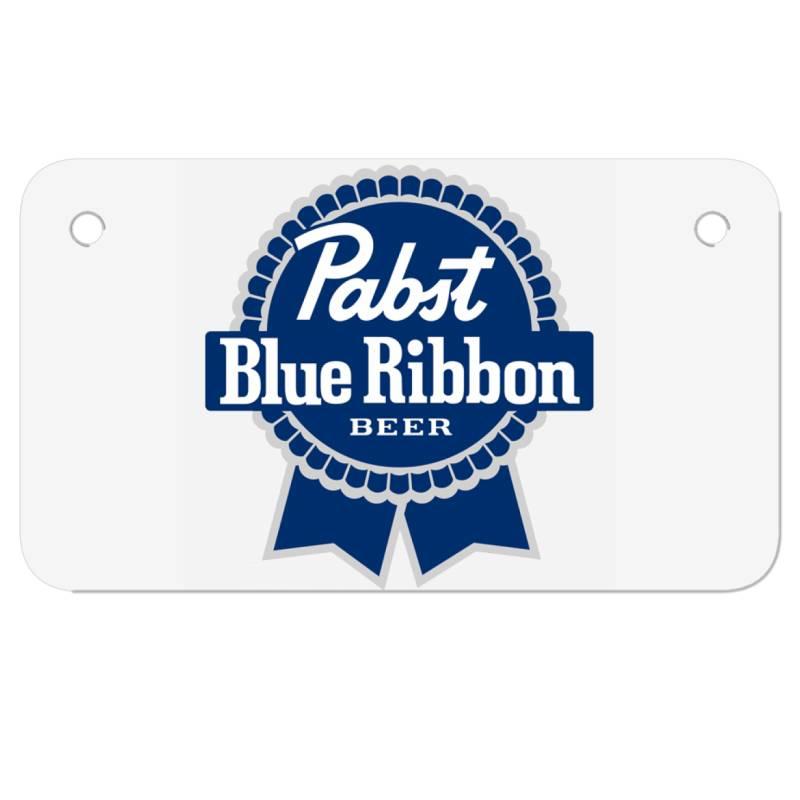 Pabst Blue Ribbon Motorcycle License Plate | Artistshot