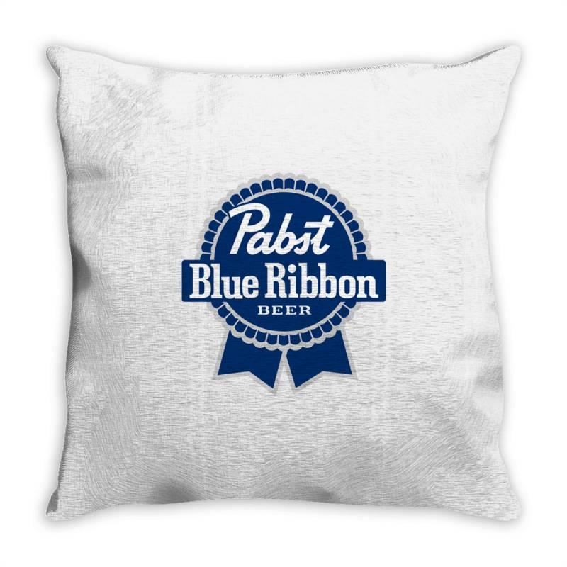 Pabst Blue Ribbon Throw Pillow | Artistshot