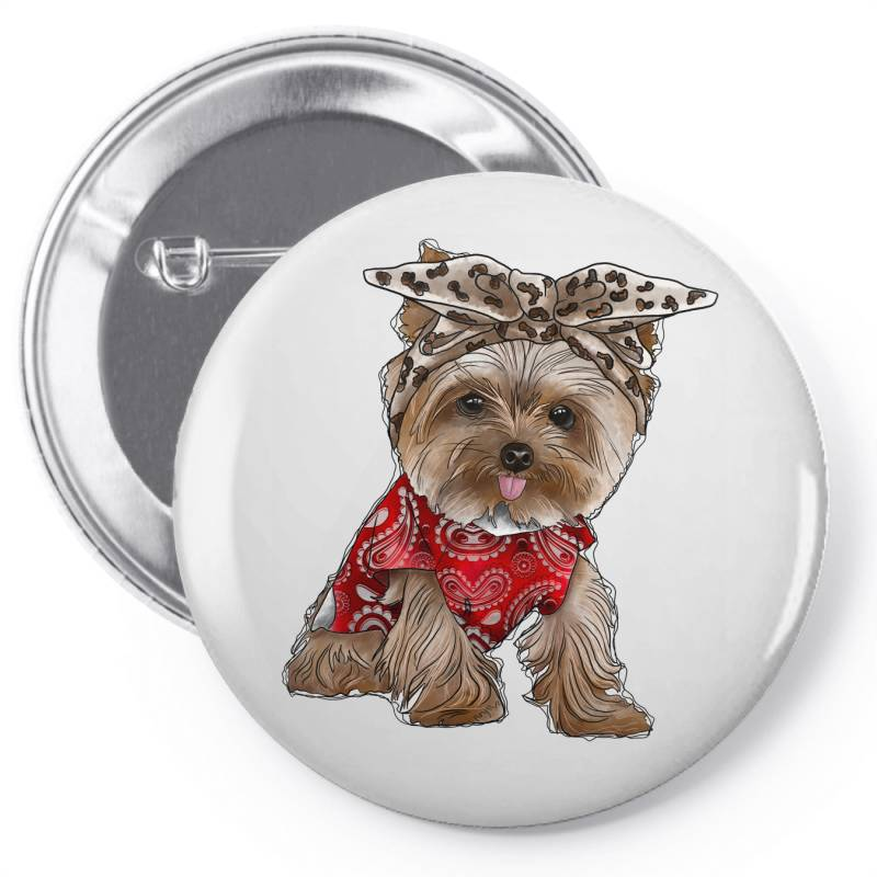 Yorkie Dog Pin-back Button | Artistshot