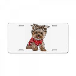 Yorkie Dog License Plate | Artistshot