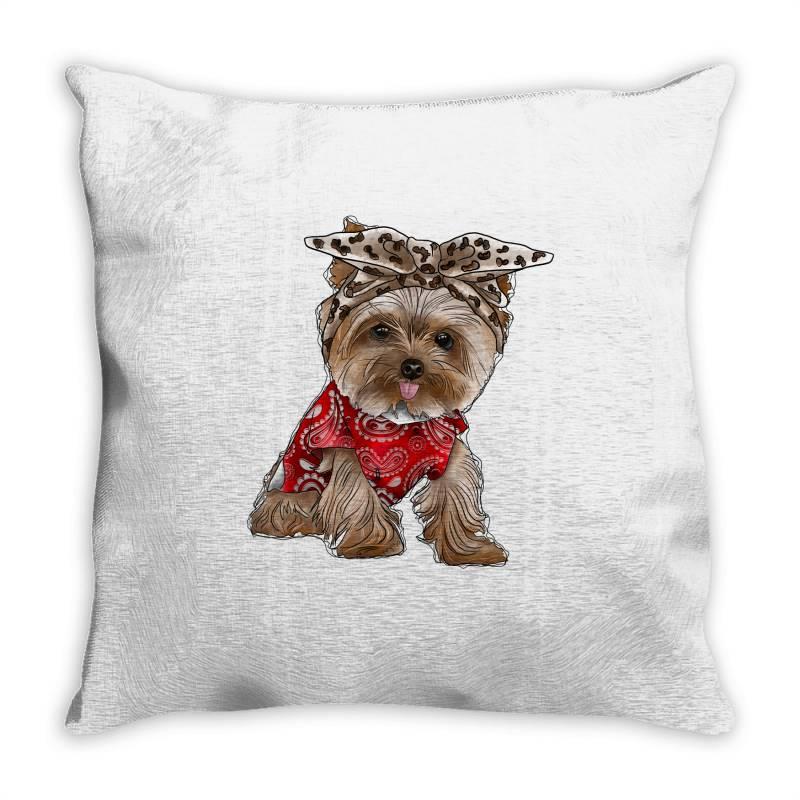 Yorkie Dog Throw Pillow | Artistshot