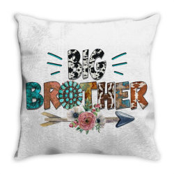big brother cowhide Throw Pillow | Artistshot
