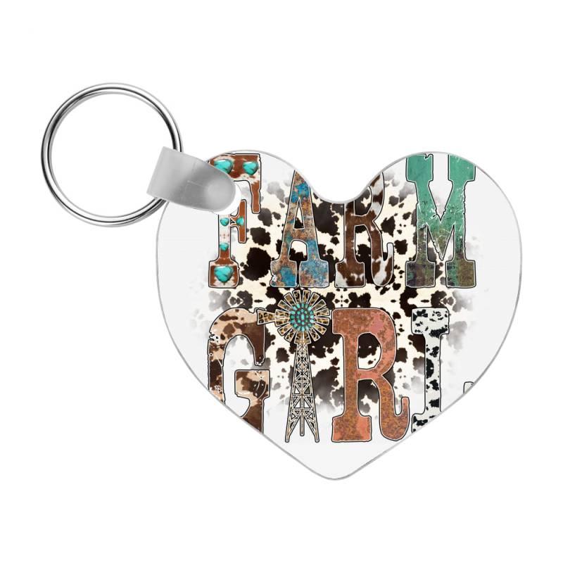 Farm Girl Frp Heart Keychain   Artistshot