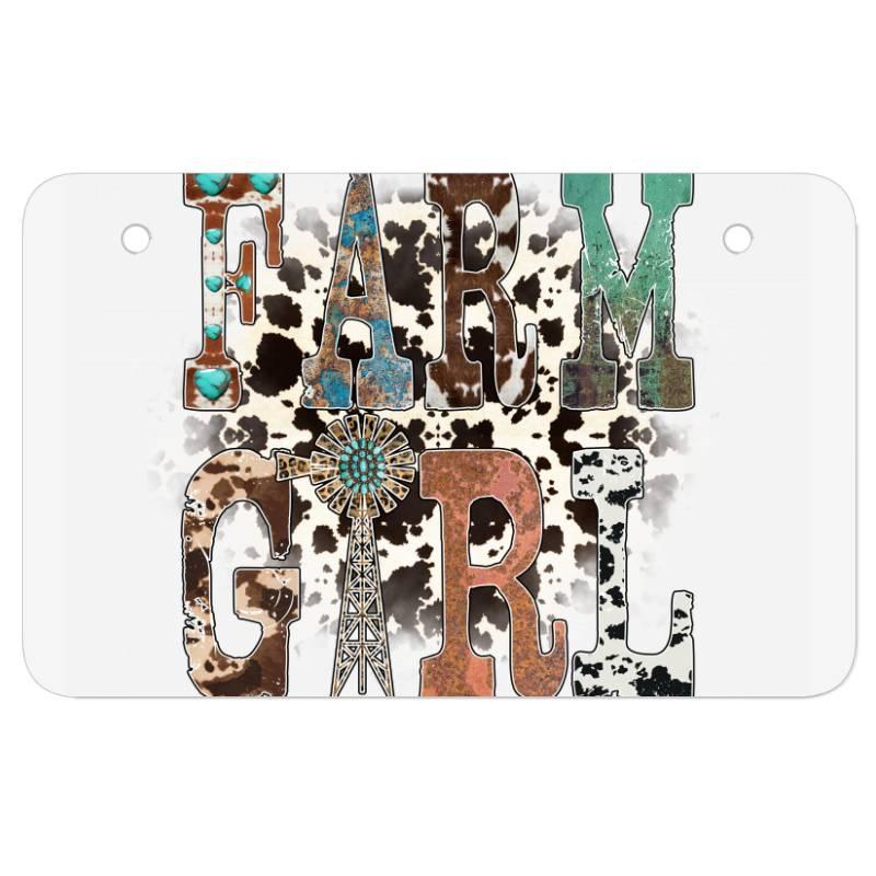 Farm Girl Atv License Plate   Artistshot