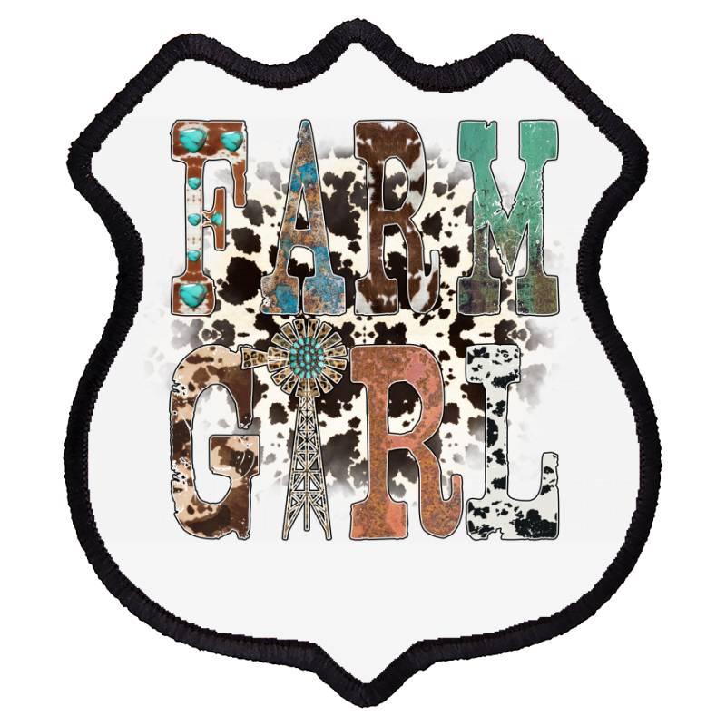 Farm Girl Shield Patch | Artistshot