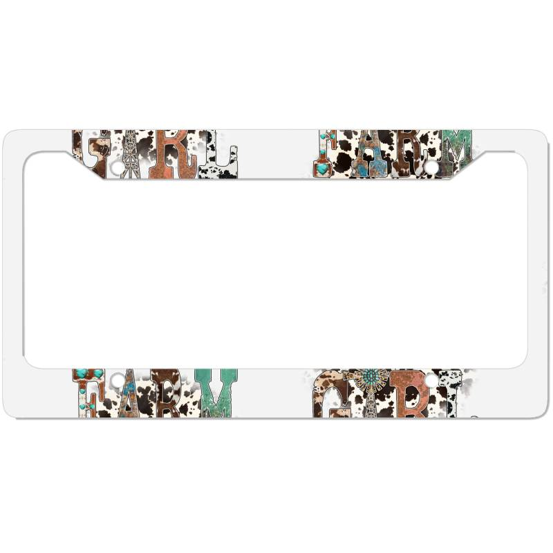 Farm Girl License Plate Frame   Artistshot