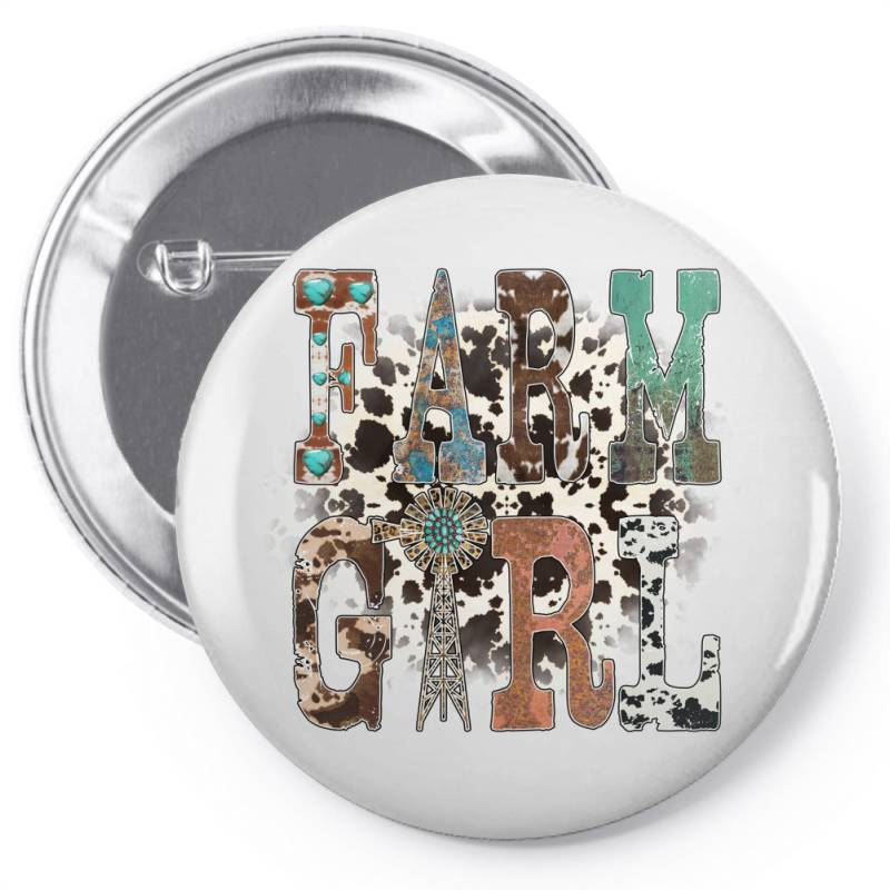 Farm Girl Pin-back Button | Artistshot