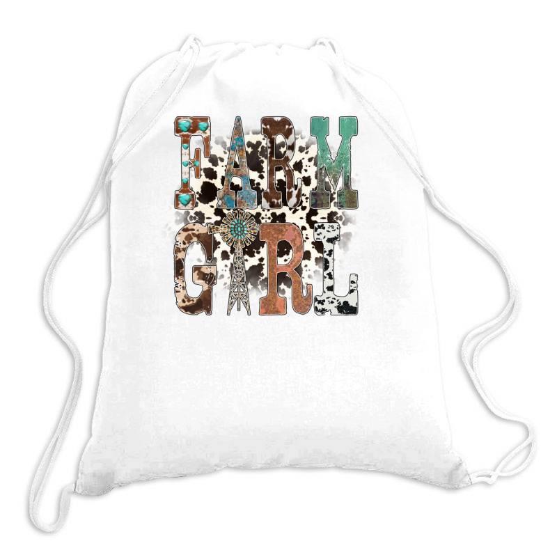 Farm Girl Drawstring Bags | Artistshot