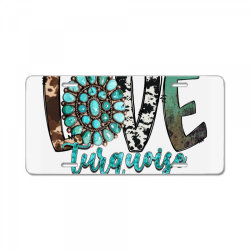 love turquoise License Plate | Artistshot