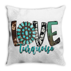 love turquoise Throw Pillow | Artistshot
