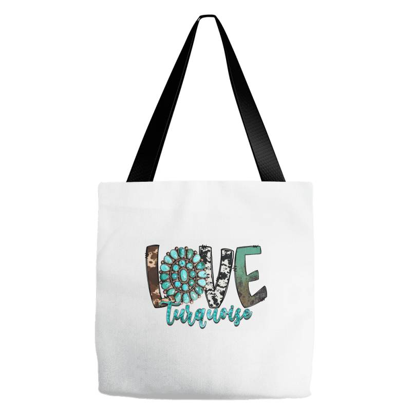 Love Turquoise Tote Bags | Artistshot