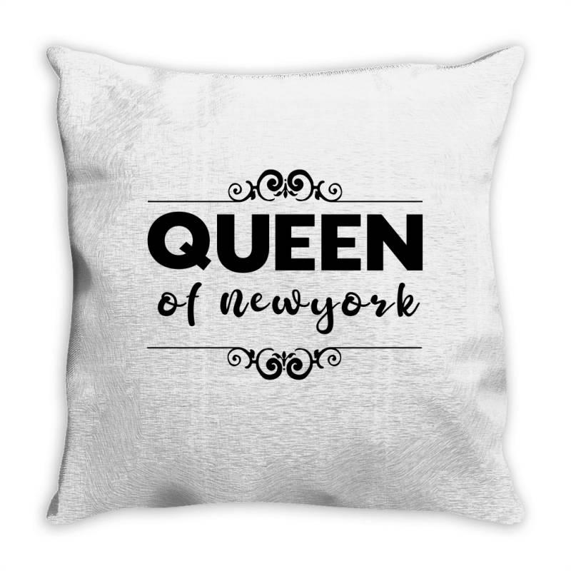 Queen Of Newyork Throw Pillow   Artistshot