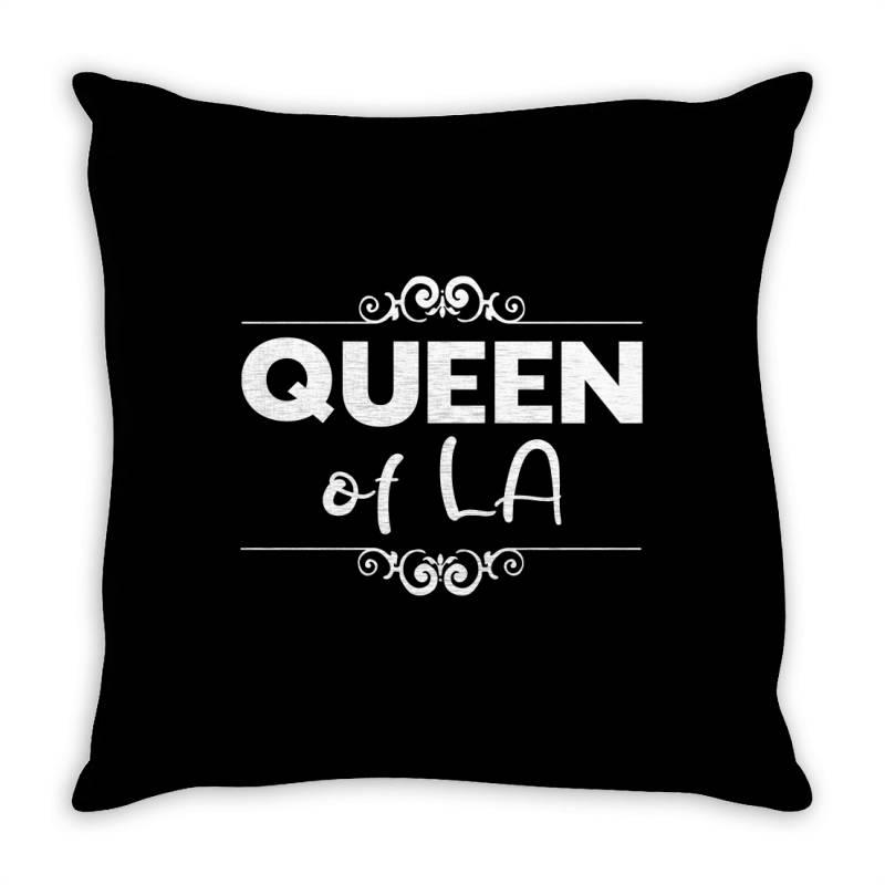 Queen Of La Throw Pillow | Artistshot