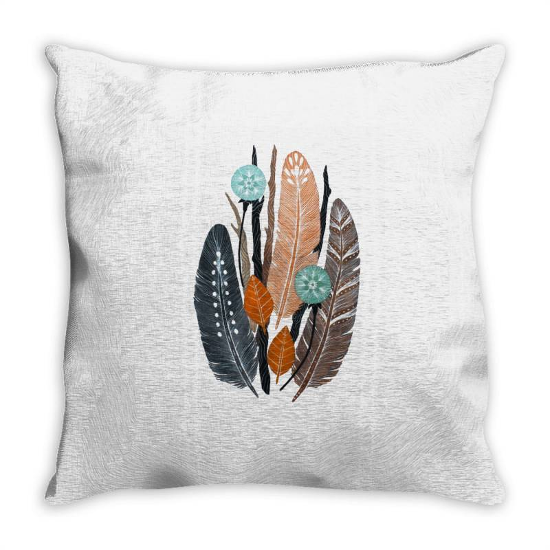Colourful Flowers Throw Pillow | Artistshot