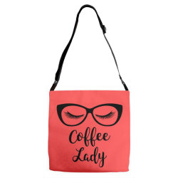 coffee lady Adjustable Strap Totes | Artistshot