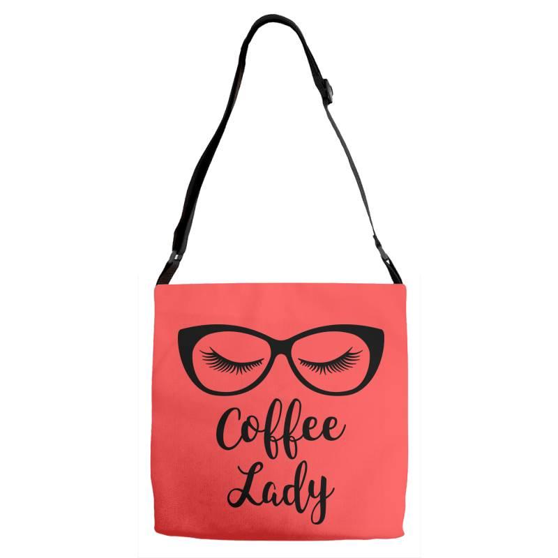 Coffee Lady Adjustable Strap Totes | Artistshot